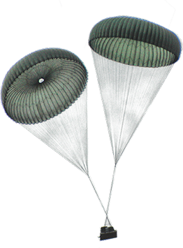 Vertical Do Ponto Military Parachutes